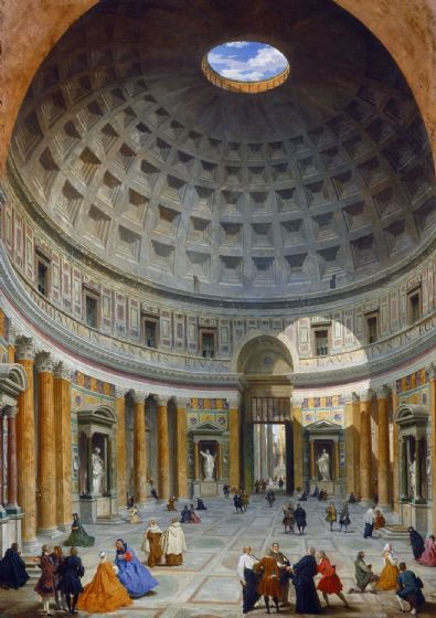 Panini, Giovanni Paolo: Interior of the Pantheon, Rome. Fine Art Print/Poster. Sizes: A4/A3/A2/A1 (004095)